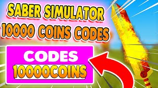*10000 COINS SECRET CODES* SABER SIMULATOR CODES ROBLOX