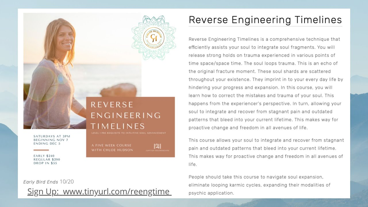 Reverse Engineering Timelines