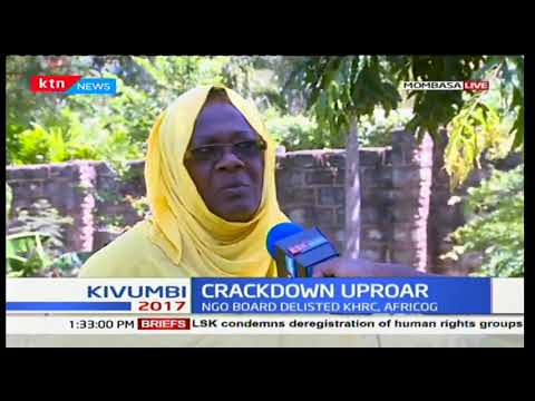 Civil society groups in Mombasa give reasons why they condemn NGO board