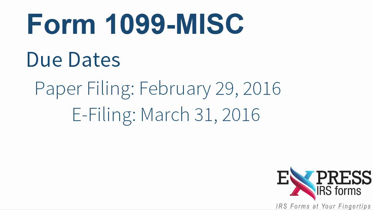 E file form 1099 misc for miscellaneous income youtube e file form 1099 misc for miscellaneous income falaconquin
