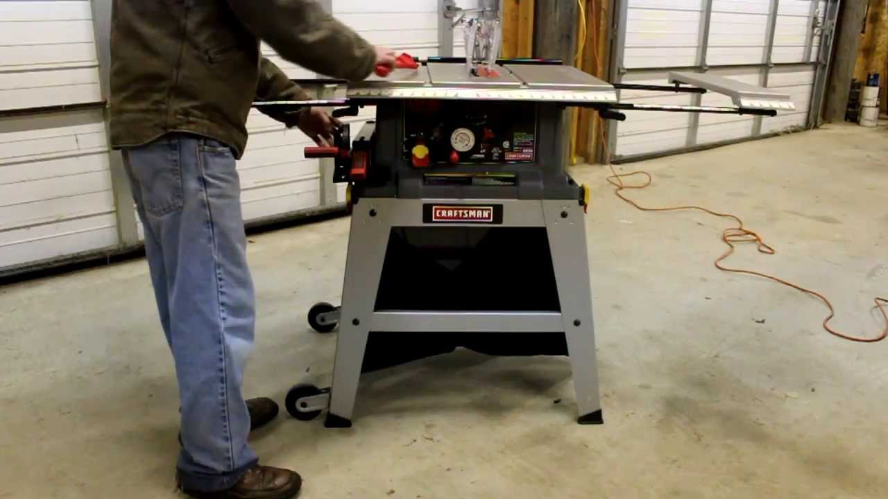 How to assemble craftsman 10 table saw model 21807 youtube greentooth