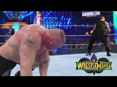 Roman Reigns Vs Brock Lesnar universel Championship Full Match wrestlemania 34 thumbnail