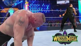 ... roman reigns vs brock lesnar universel championship full match wrestlemania 34...