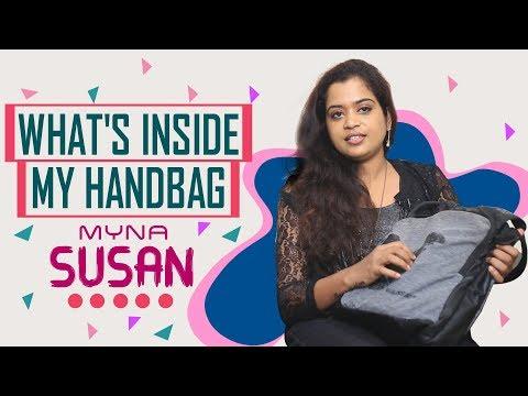 What's Inside My Handbag with Myna Susan/ India 2018