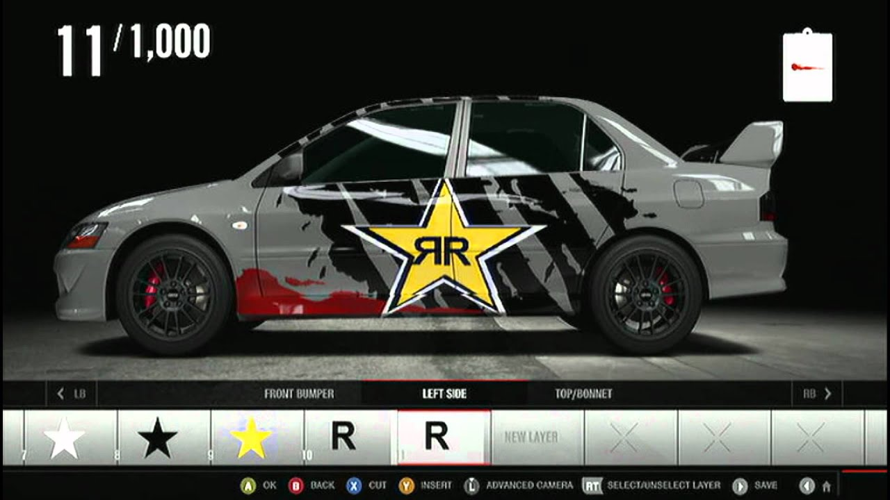 Forza motorsport 4 rockstar energy how to make in decal