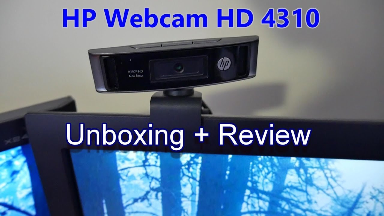 HP webcam HD 4310 Review and Unboxing YouTube