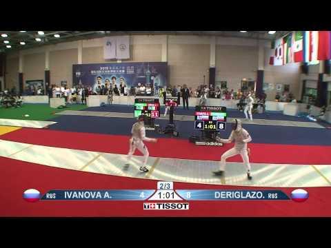 Shanghai 2015 WF GP T08 02 red Deriglazova I RUS vs Ivanova A RUS