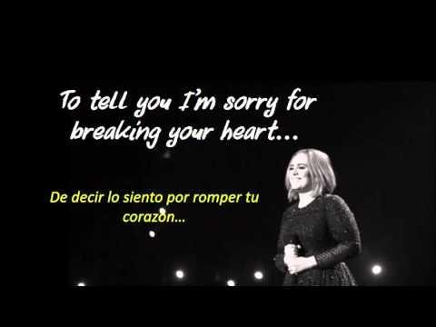 Adele - Hello (lyrics and Spanish translation/letra y traducida al español)