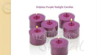 Dripless Purple Tealight Candles Wholesale Online At Shpacandle