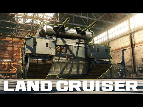 P1000 RATTE LAND CRUISER!!! Cyclone Auto-cannon Fanbuilds Review - CROSSOUT Gameplay