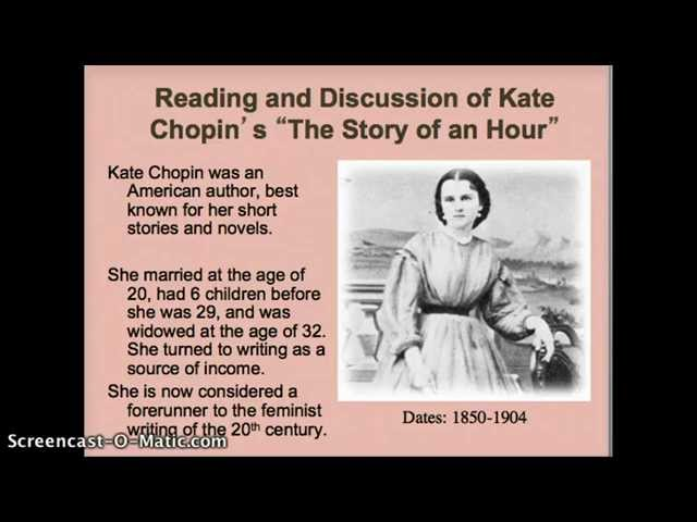 an analysis of kate chopins short story the storm The plot of the story the storm by kate chopin is a conventional everyday plot the story would not be so interesting if it weren't for the last line of the.