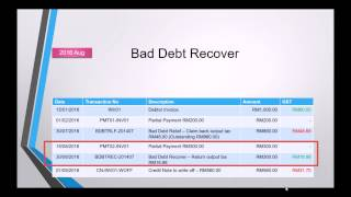 GST Bad Debt Relief & Recover- 3A Accounting Software