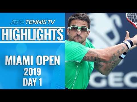 Tipsarevic makes triumphant return; Hurkacz wins again | Miami 2019 Day 1 Highlights