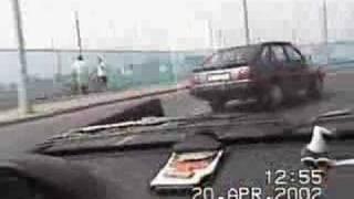 stupid car crash,
