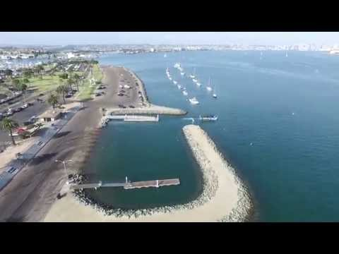 Drone Footage of Harbor Island, San Diego, CA