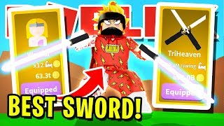 "I GOT THE NEW "" RAREST SWORD IN ROBLOX SABER SIMULATOR And USED IT TO DEFEAT The BULLIES!!"