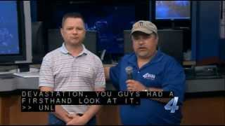 Storm Chaser footage of 5/20/2013 Moore, Oklahoma Tornado - Channel 4 KFOR-TV News Video 1