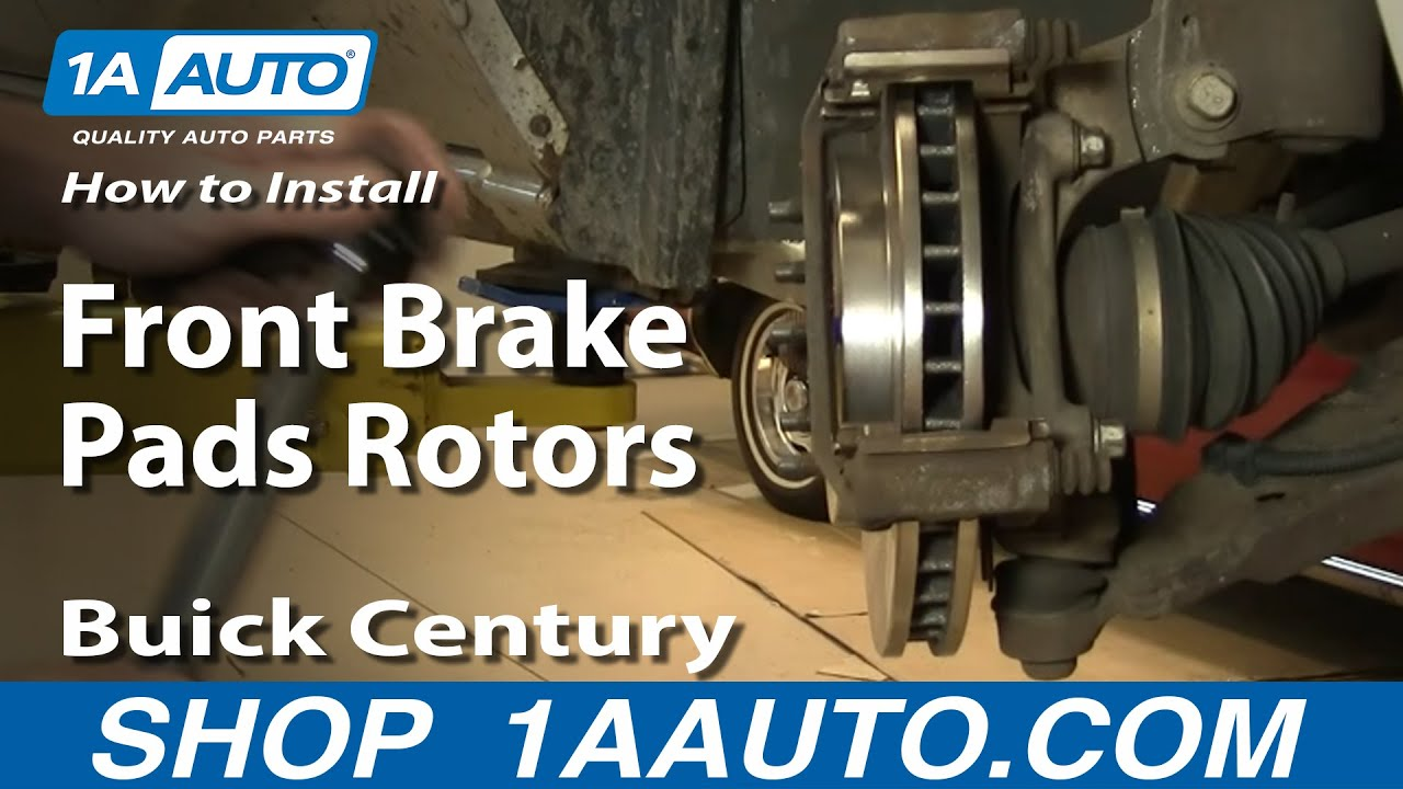 How To Replace Front Brakes 97-05 Buick Century