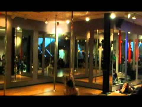 Michelle Stanek, Pole Universe Champion, performs at Awakenings Pole Dance Fitness