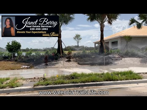 Drive Thru Valencia Trails Active 55+ Community In North Naples FL Beautiful New Construction Homes