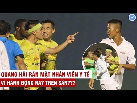 CỰC NÓNG: Quang Hải chỉ thẳng mặt nhân viên y tế Bình Dương vì hành động này với cầu thủ Hà Nội ???