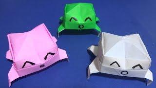 【立体折り紙】 ホモォの顔文字┌(┌^o^)┐ Origami ASCII art of Homoo ┌(┌^o^)┐ thumbnail
