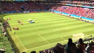 2014W杯 イタリアvsコスタリカ コスタリカ国歌