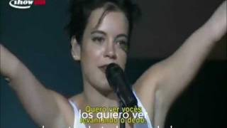 Lily Allen Fuck You  Live (Subtitulada en Español)