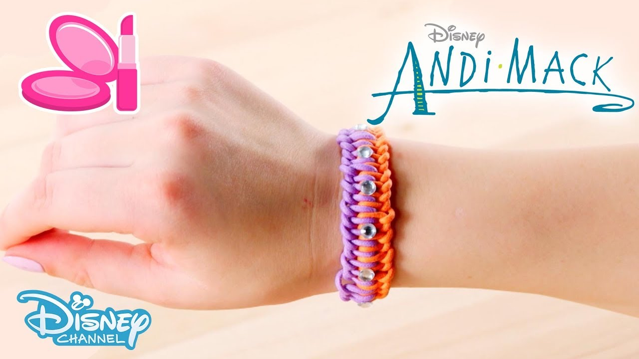 Andi mack craft tutorial diy friendship bracelet for Diy crafts youtube channels