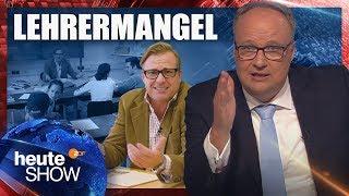 Bildungsnotstand! In Deutschland fehlen 40.000 Lehrer | heute-show vom 07.09.2018