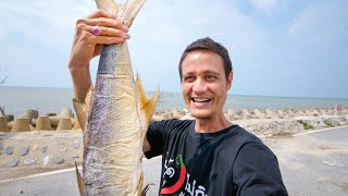 Indian Salmon DEEP FRIED!! 🐟 Super CRISPY UMAMI Food Village!