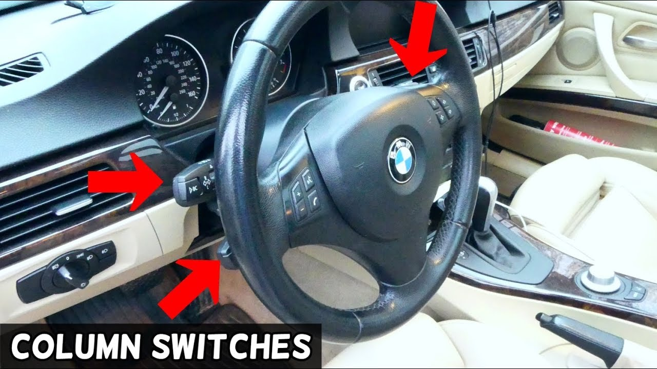 BMW E90 E92 TURN SIGNAL SWITCH, CRUISE CONTROL SWITCH, WIPERS SWITCH  REPLACEMENT E91