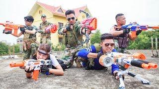 LTT Nerf War : SEAL X Warriors Nerf Guns Fight Criminal Group Rescue Warriors Spy