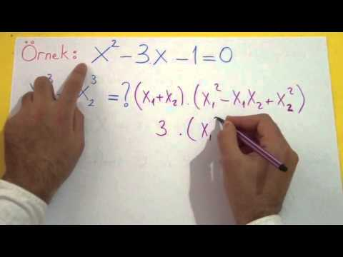 2. Dereceden Denklemler 4 Şenol Hoca Matematik