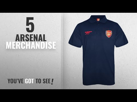 8c745b8827 Top 10 Arsenal Merchandise [2018]: Arsenal FC Official Football Gift Mens  Crest Polo Shirt - YouTube