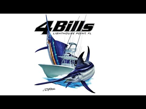 4 BILLS FISHING TEAM: Kite fishing South Florida Part 2