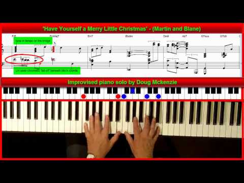 'Have Yourself a Merry Little Christmas' - Jazz piano Tutorial