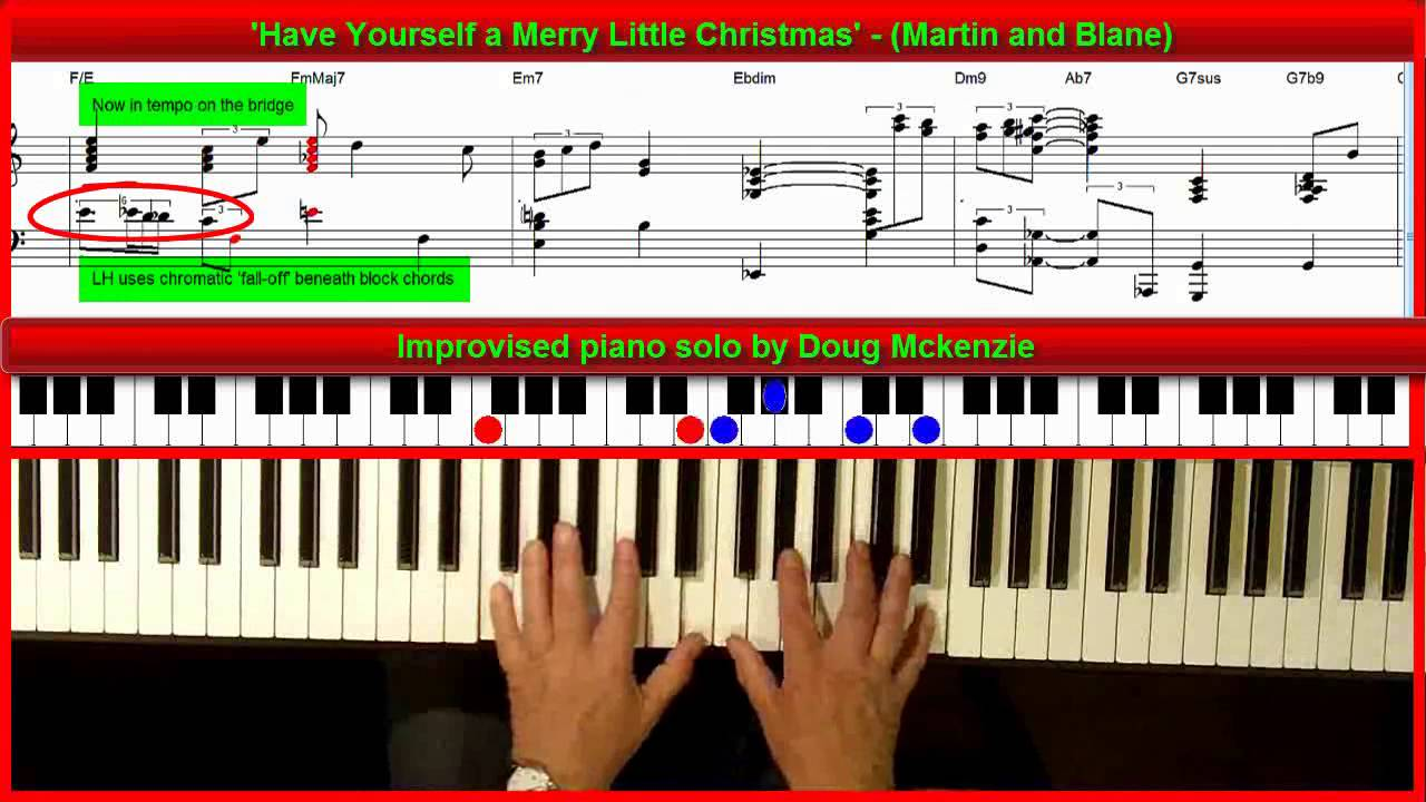 Have Yourself A Merry Little Christmas Lead Sheet.Have Yourself A Merry Little Christmas Jazz Piano Tutorial