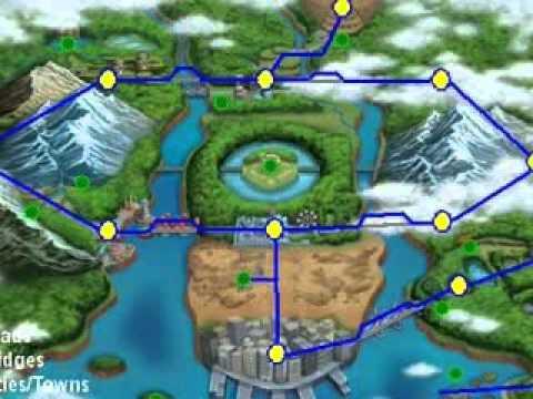 Pokemon Black/White - Unova Region Map and Locations - YouTube