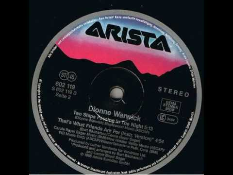 Dionne Warwick & Friends - That's What Friends Are For (Original Instrumental)