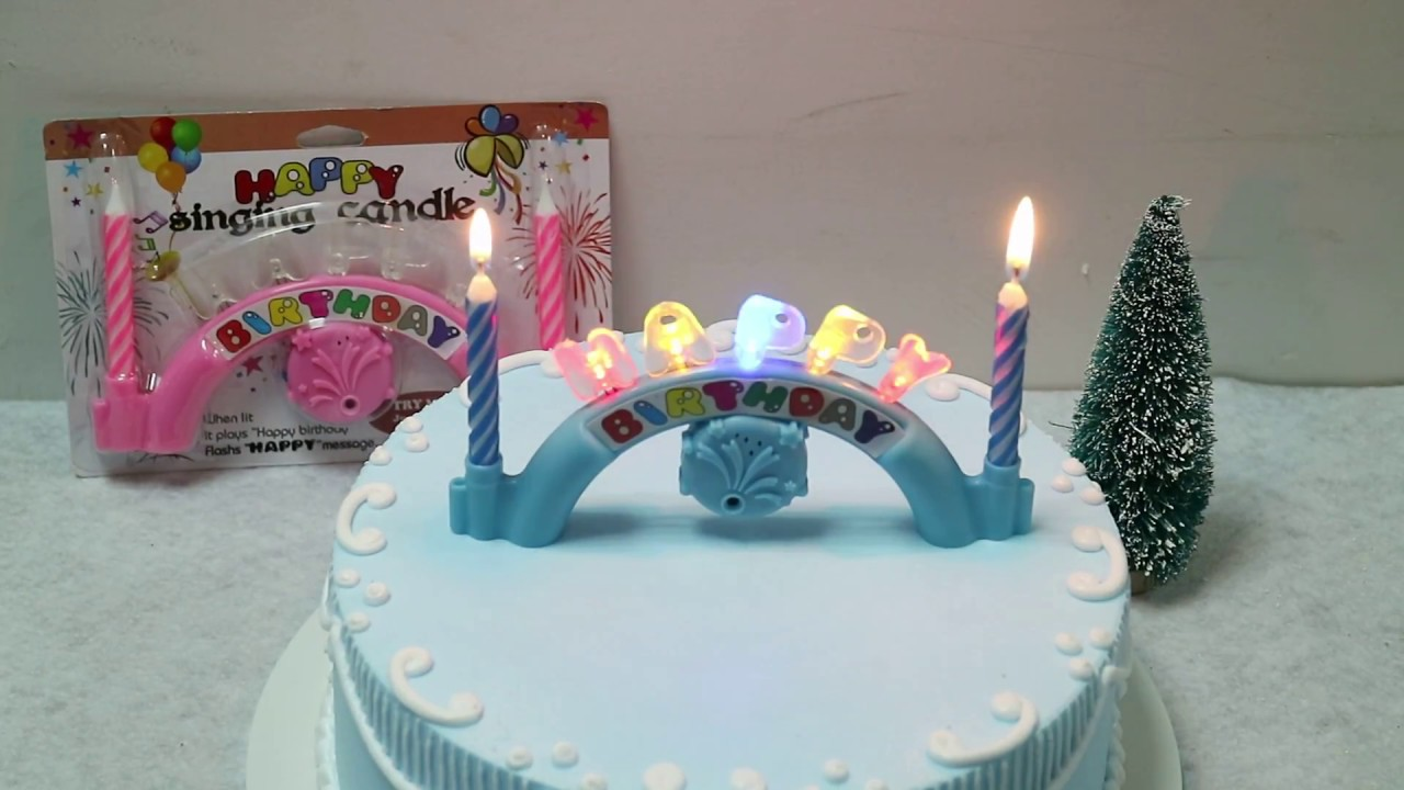 Singing Music Birthday Candle