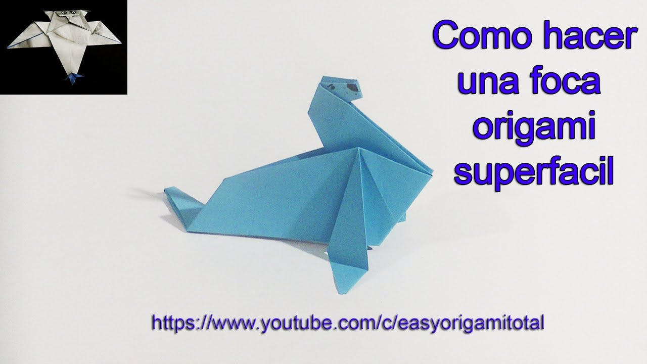 Como se hace una foca de papel en origami superfacil youtube - Como se construye una chimenea ...