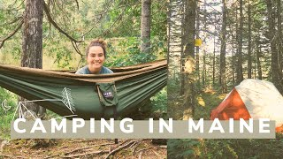 my first time camṗing // a vlog camping in maine 🏕️