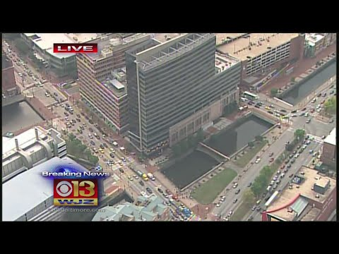 Constellation Energy In Downtown Baltimore Evacuated Due To Smoke