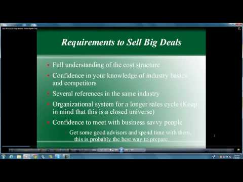 Webinar 6-25-12 - How to Close Big Deals - Merchant Services Sales Training