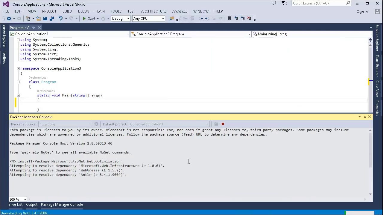 Visual Studio For Mac Nuget Package Manager Console