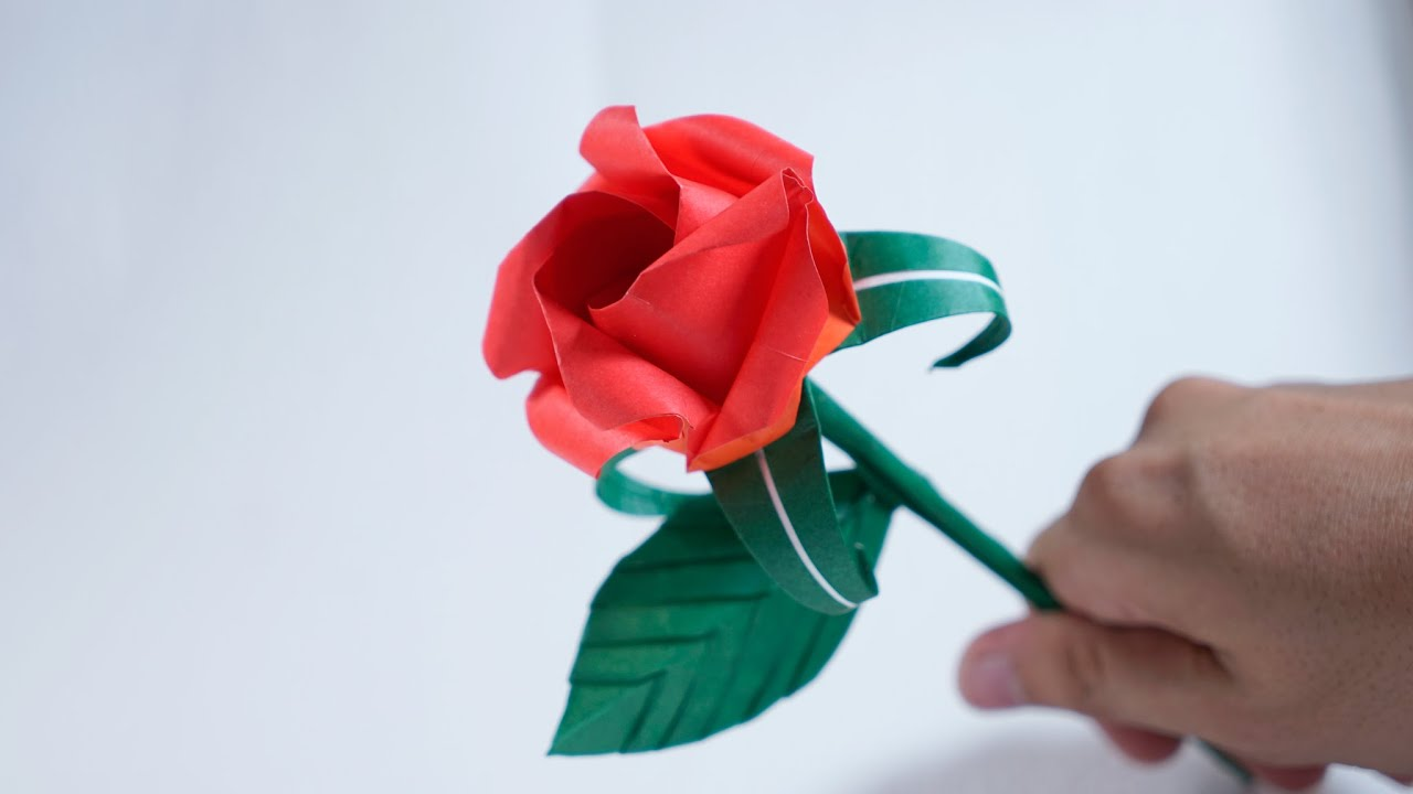 ArchGuide: Easy Origami Rose tutorial for kids | 720x1280