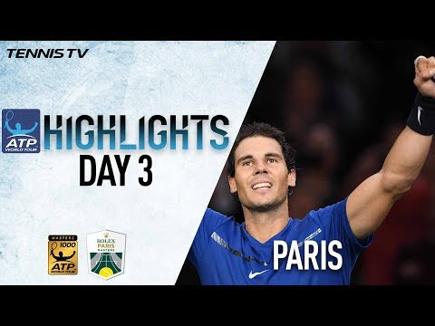 Nadal Clinches Year-End No. 1 Ranking In Paris 2017 Opener Wednesday Highlights