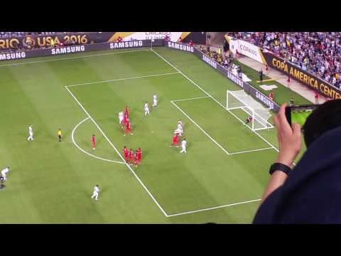 Lionel Messi free kick vs. Panama inside stadium