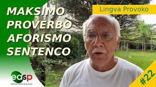 Lingva Provoko n-ro 22 (Maksimo, Proverbo, Aforismo, Sentenco)